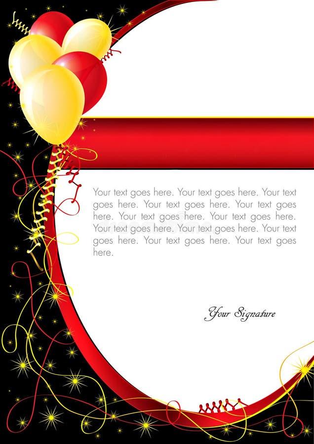 Alles Gute zum Geburtstagkarte stockbild