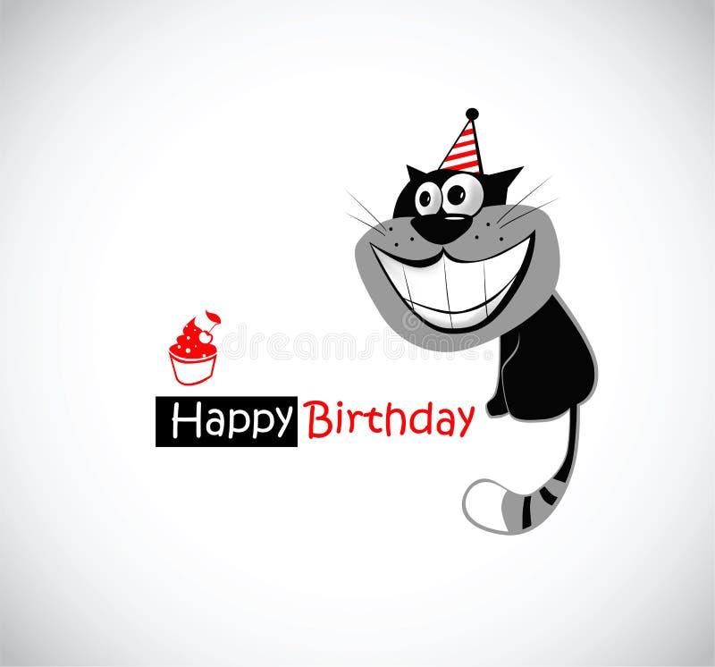 Alles Gute zum Geburtstagkatze stock abbildung