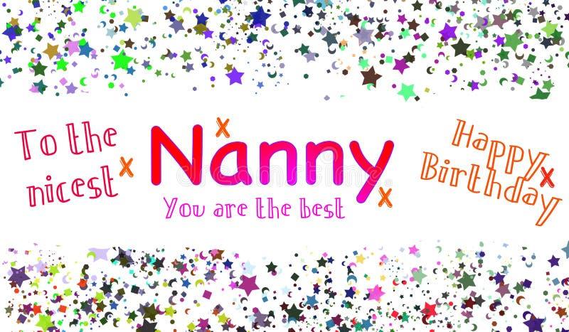 Alles- Gute zum Geburtstagkindermädchen Card lizenzfreie abbildung