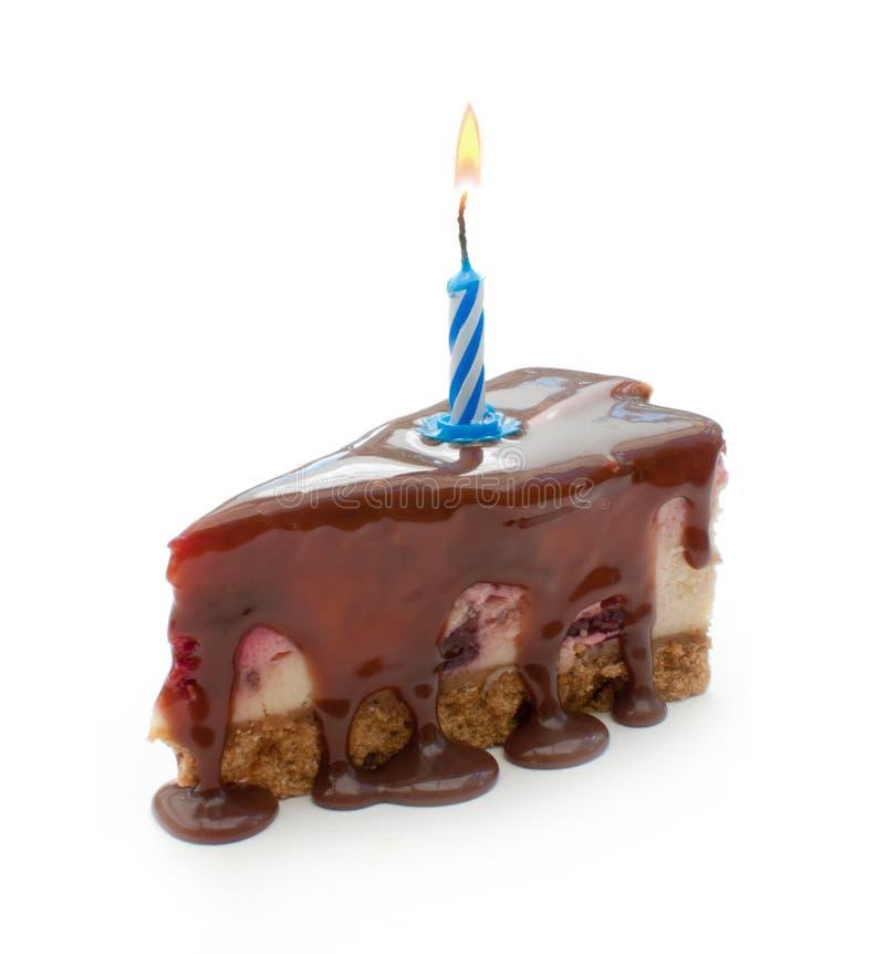 Alles- Gute zum Geburtstagkuchenscheibe lizenzfreie stockfotos