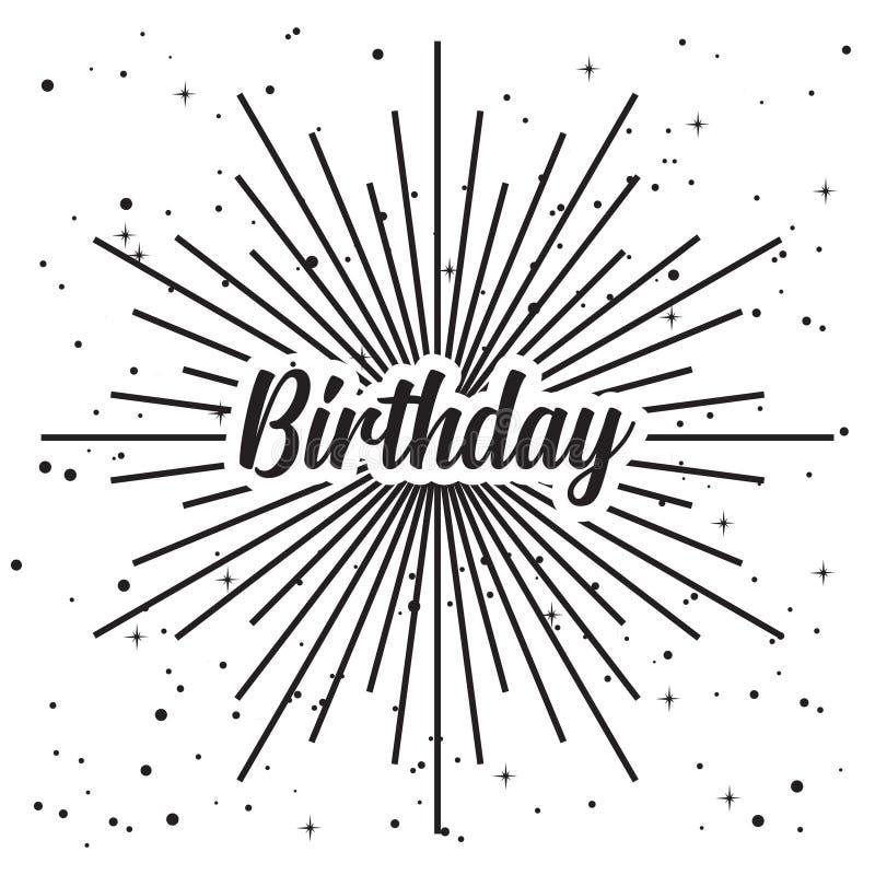 Alles- Gute zum Geburtstaglokalisiertes Vektor clipart stock abbildung