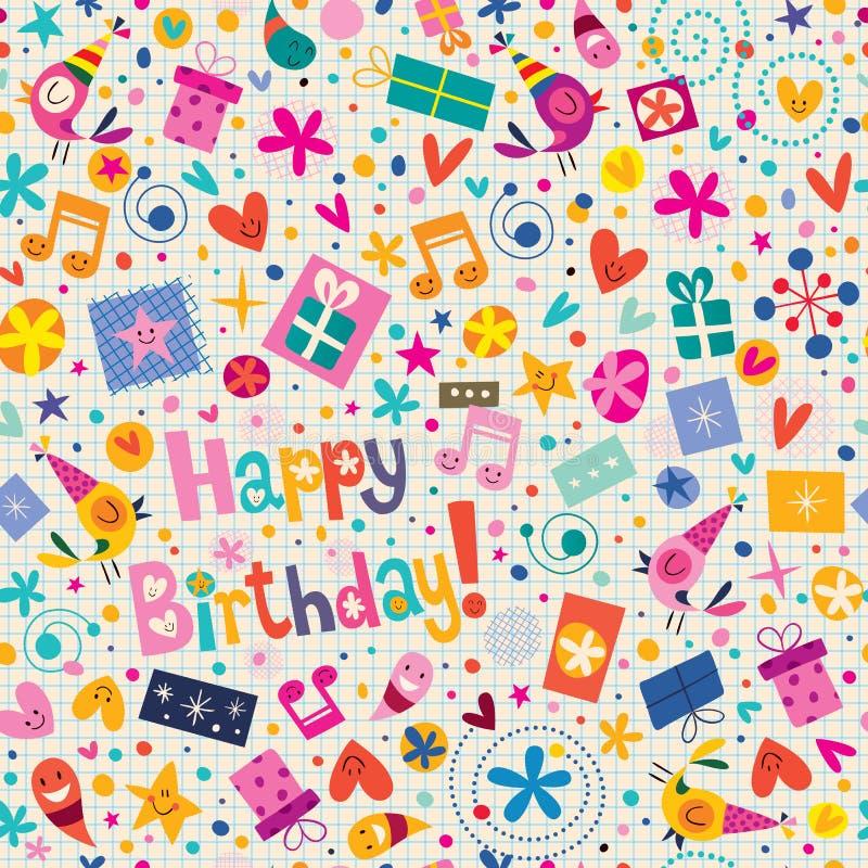 Alles- Gute zum Geburtstagmuster vektor abbildung
