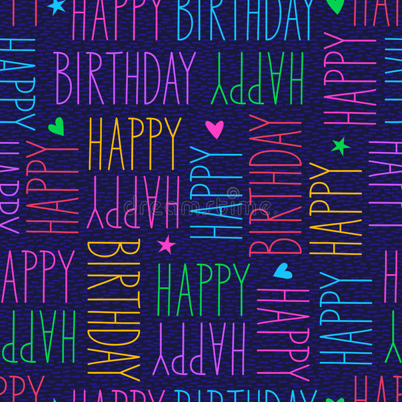 Alles- Gute zum Geburtstagnahtloses Muster vektor abbildung