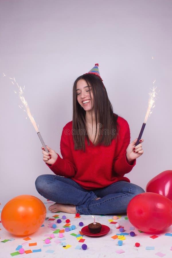 Alles- Gute zum Geburtstagstimmung stockbilder