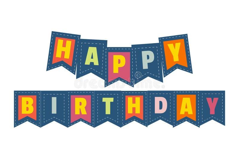 Alles- Gute zum Geburtstagzeichen stock abbildung