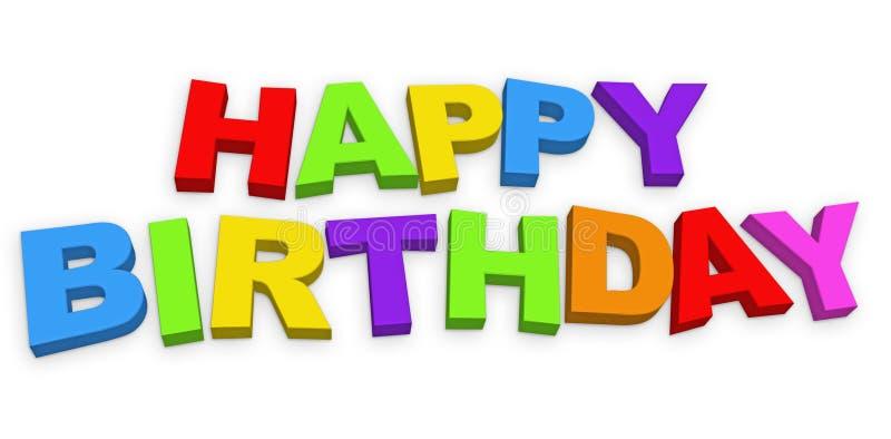 Alles- Gute zum Geburtstagzeichen lizenzfreie abbildung