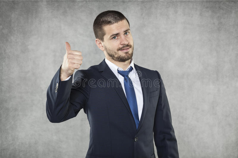 Alles O.K., glücklicher Geschäftsmann lizenzfreies stockbild