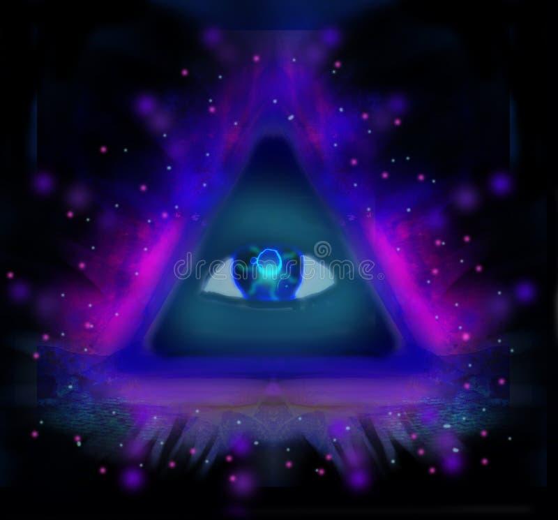 Alles sehende Auge vektor abbildung