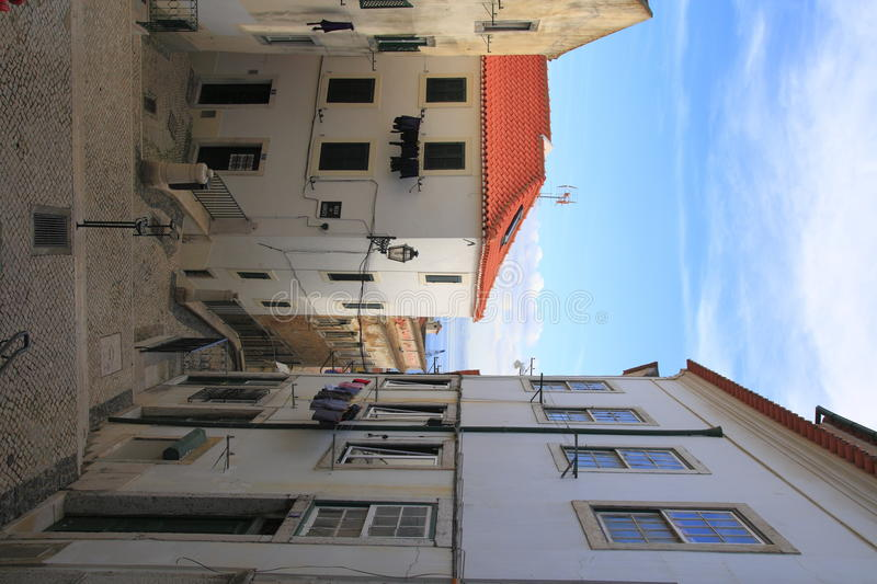 Alley. In the city of Lisbon royalty free stock photography