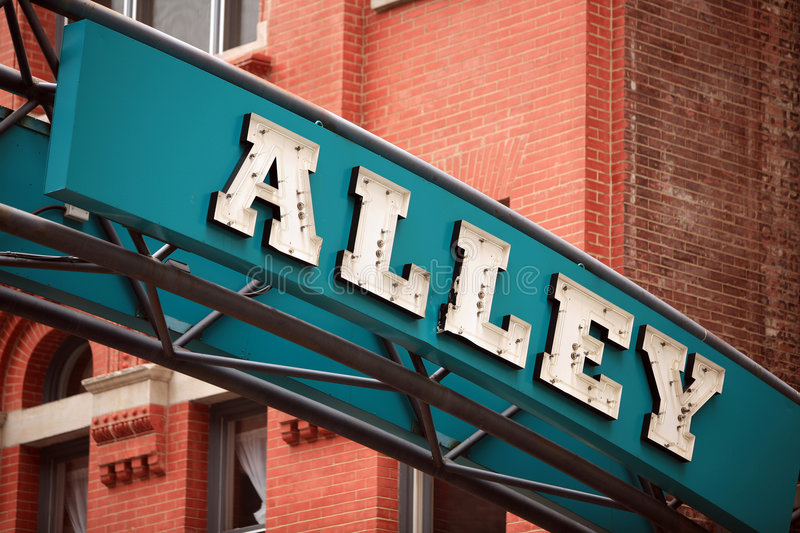 The Alley royalty free stock photos