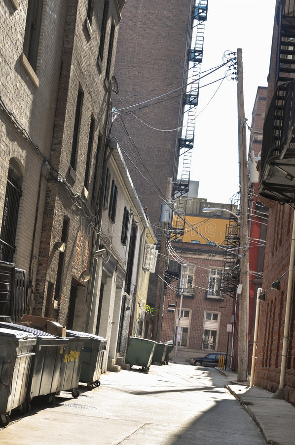 Alley in Baltimore, Maryland stock image