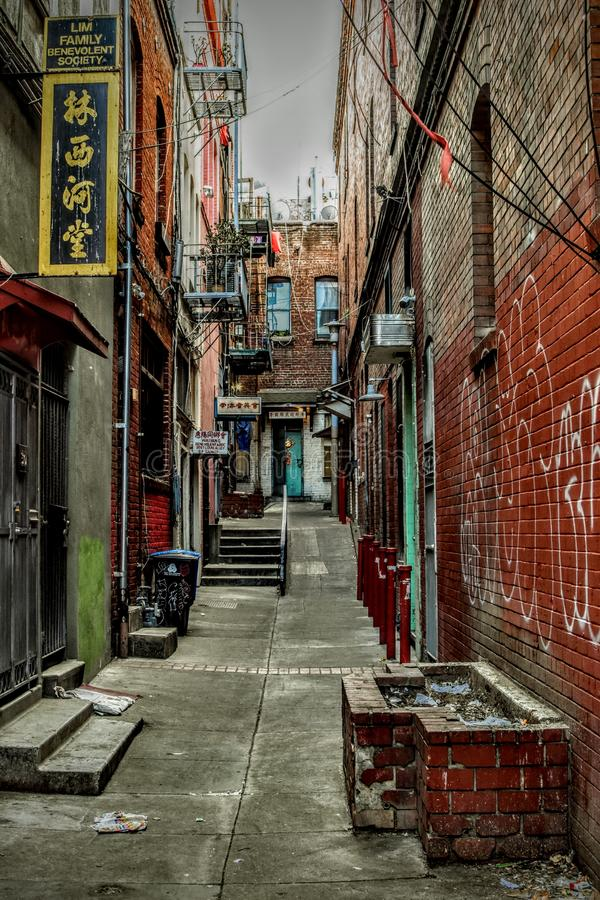 Alley, Chinatown, San Francisco, California royalty free stock images