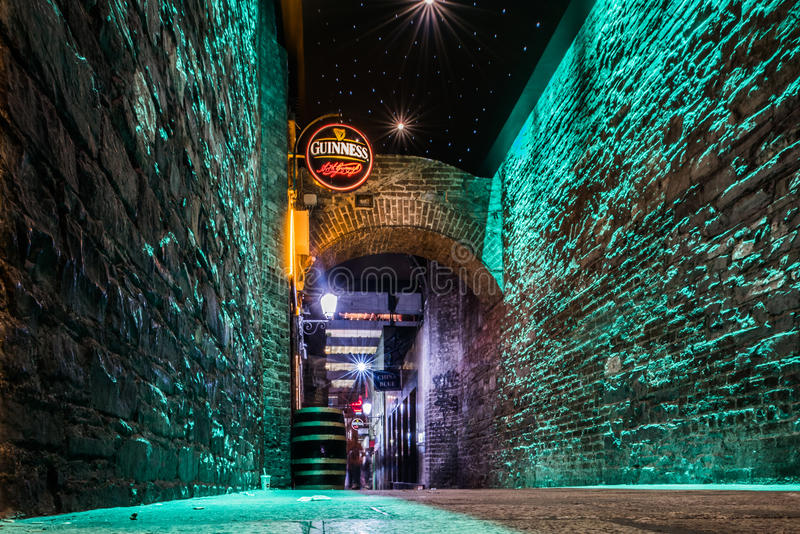 Alley in Dublin Ireland royalty free stock photography