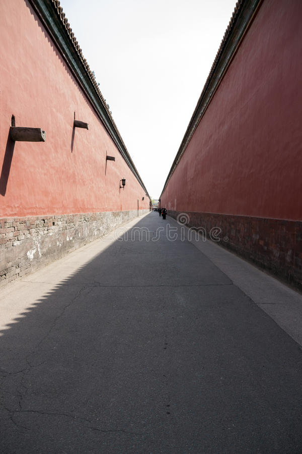 Alley in the forbidden city royalty free stock photo