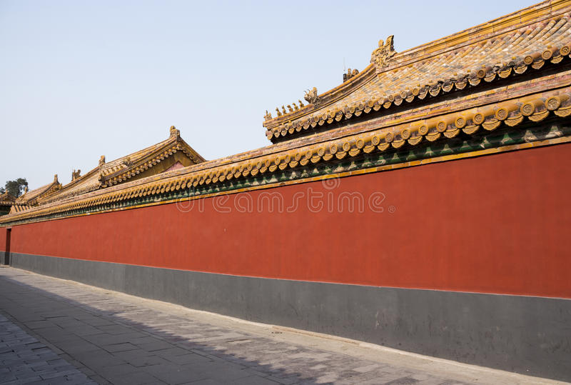 Alley in the forbidden city stock images