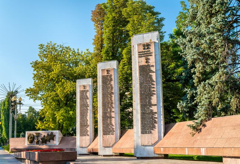 Alley of the Heroes devoted to the Battle of Stalingrad. Volgograd, Russia. N Federation royalty free stock photography
