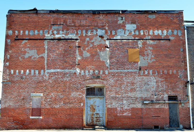 Alley in historic downtown Rocky Mount, North Carolina. Back alley view of historic royalty free stock photos
