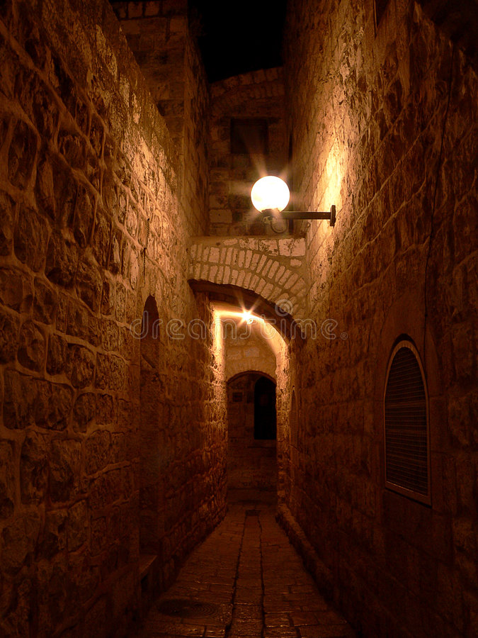 Download Alley In Jerusalem #2 Royalty Free Stock Images - Image: 187679