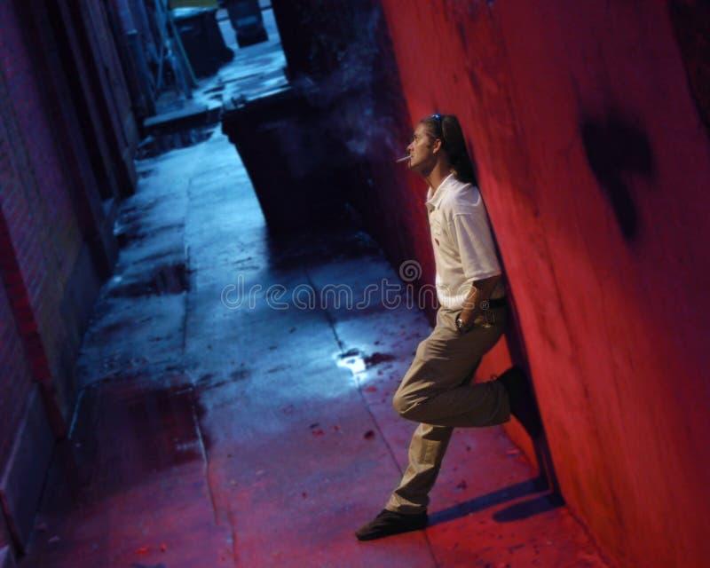 Download Alley Man stock image. Image of crime, loiter, smoke, night - 311353