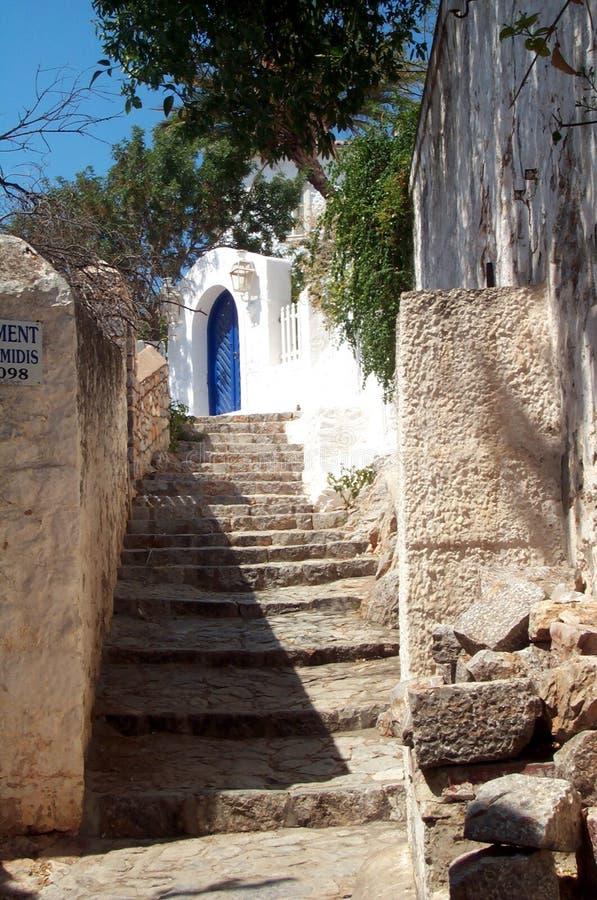 Alley in a mediterranean village stock image