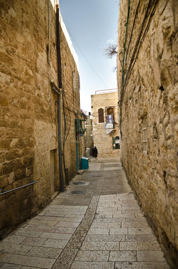 Alley in old city of Jerusalem stock images