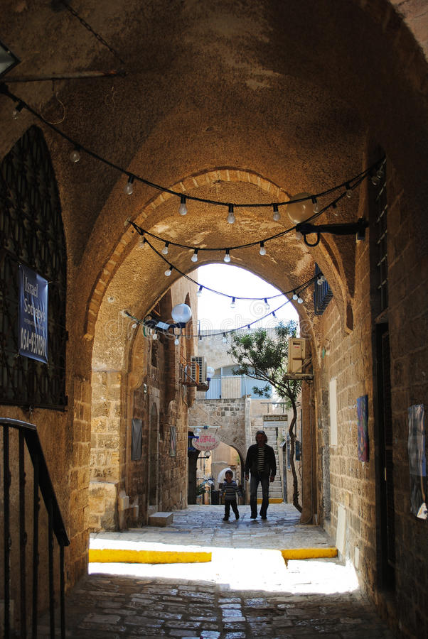 Alley in old Jaffa royalty free stock photos