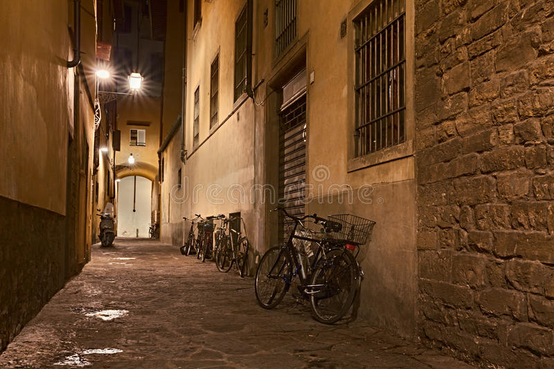 old alley in Florence, Italy stock images