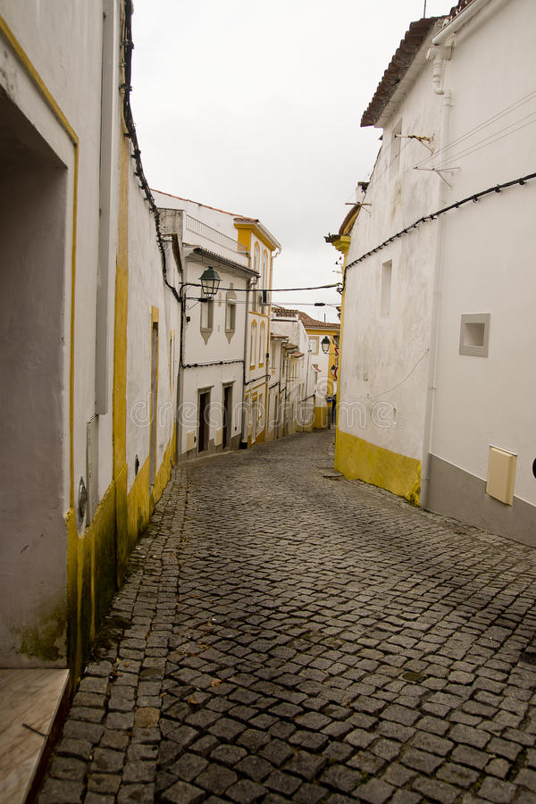 Alley Portalegre Portugal. Stone alley in Portalegre Portugal stock images