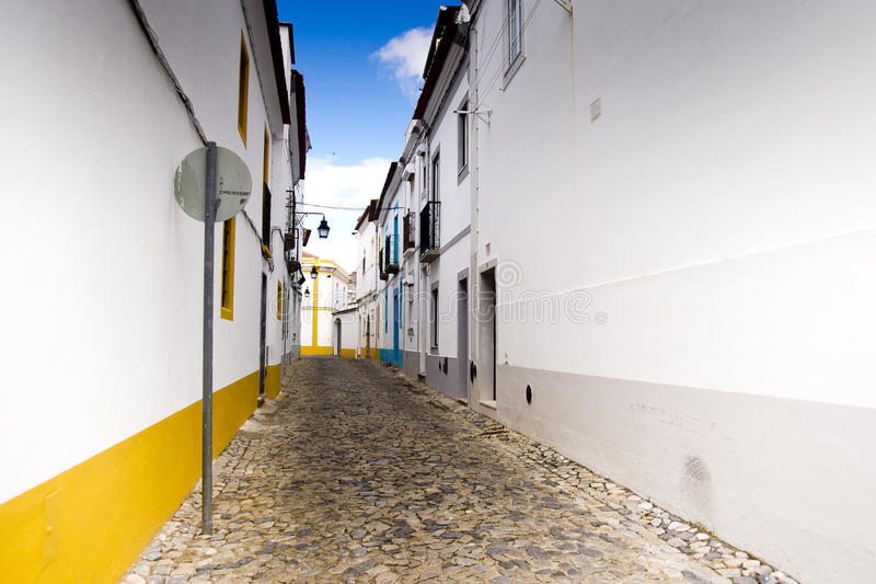 Alley Portalegre Portugal. Stone alley in Portalegre Portugal stock photo