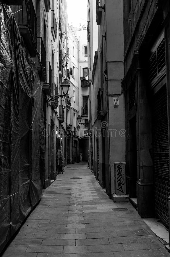 Alley, Road, Black, Street royalty free stock images