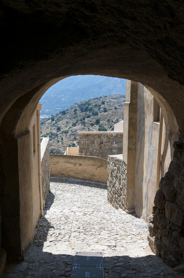 Alley in Sant'Antonino royalty free stock images