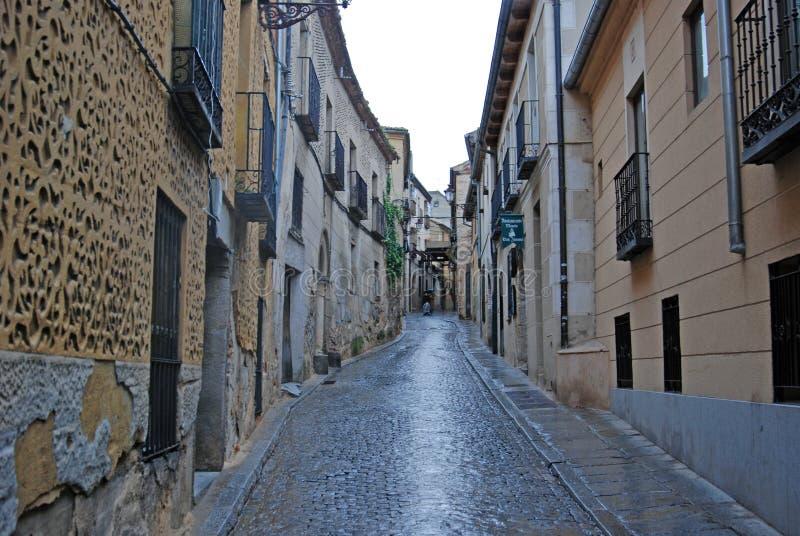 Alley in Segovia Spain stock image