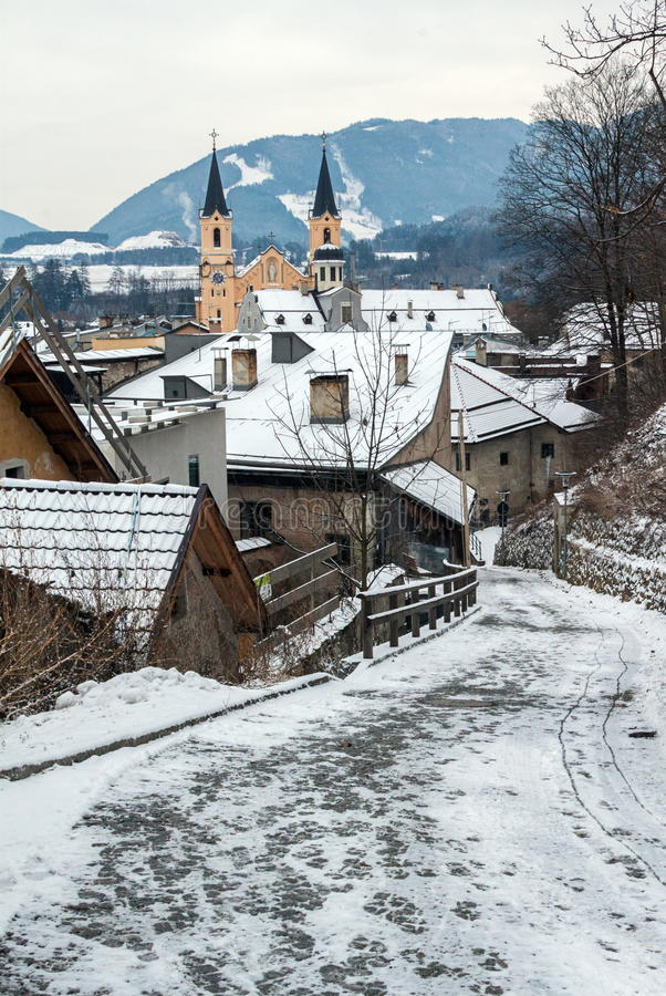 Free Alley With View Of Brunico Royalty Free Stock Image - 28746406