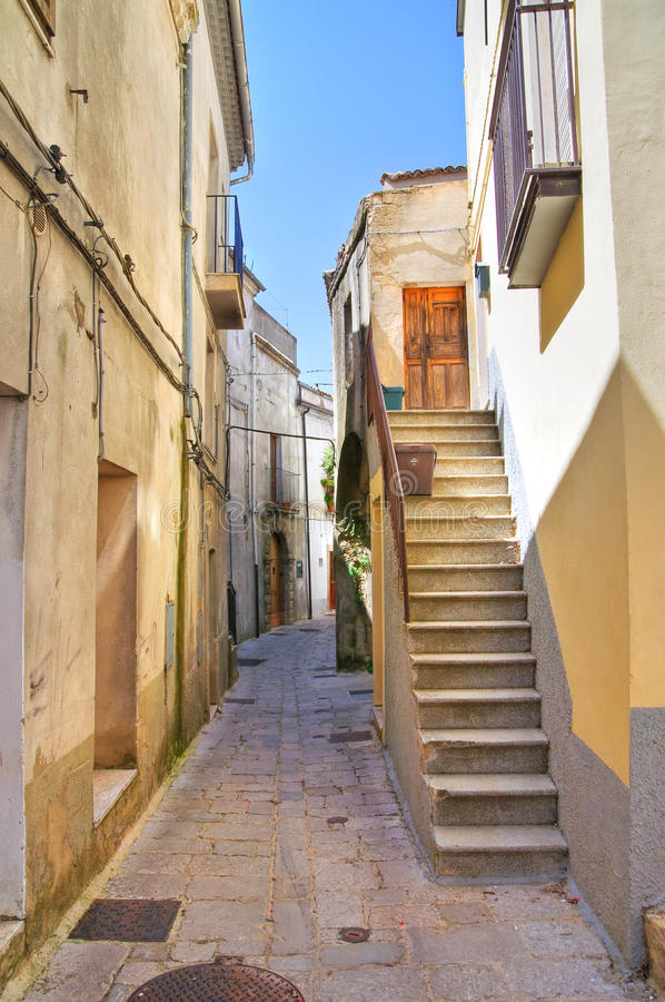 alleyway Acerenza Basilicata Italië royalty-vrije stock foto