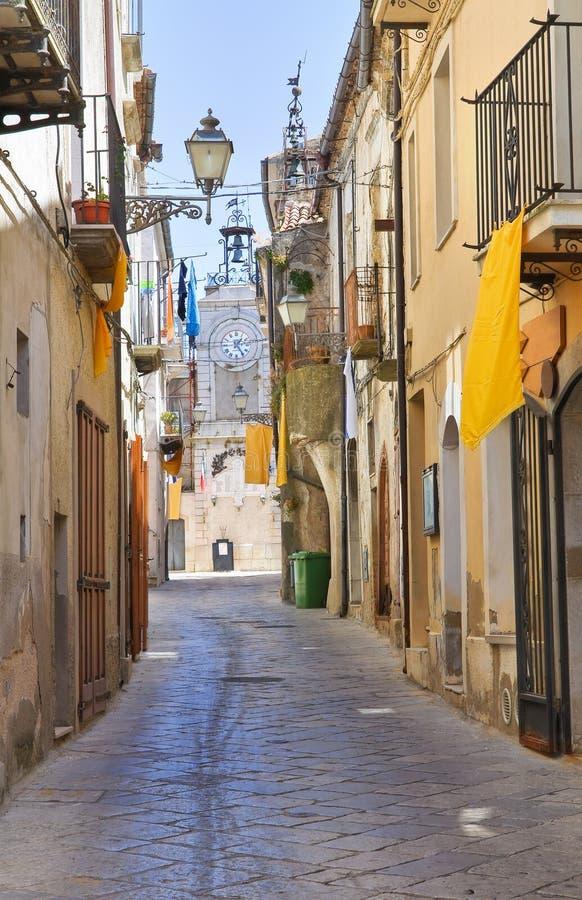 alleyway Acerenza Basilicata Italië stock afbeeldingen
