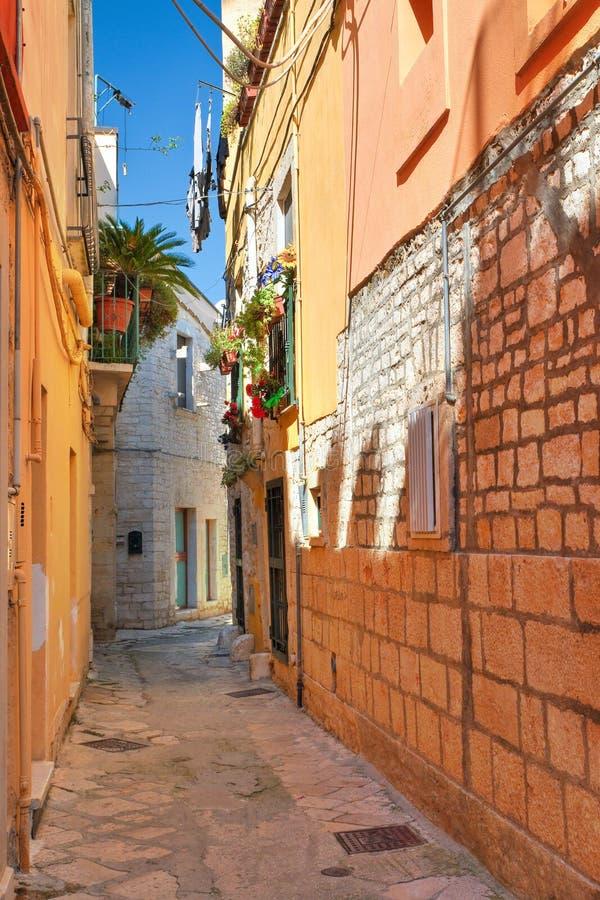 Alleyway. Acquaviva delle fonti. Puglia. Italy. Alleyway of Acquaviva delle fonti. Puglia. Italy stock images