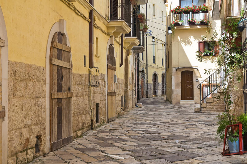 Alleyway. Altamura. Puglia. Italy. Alleyway of Altamura. Puglia. Italy royalty free stock image