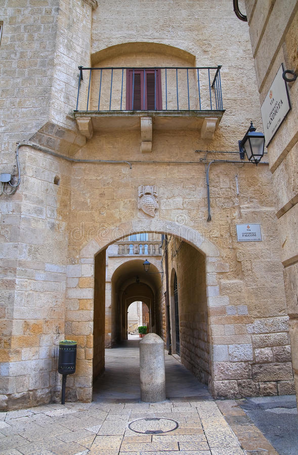 Alleyway. Altamura. Puglia. Italy. Alleyway of Altamura. Puglia. Italy royalty free stock photo