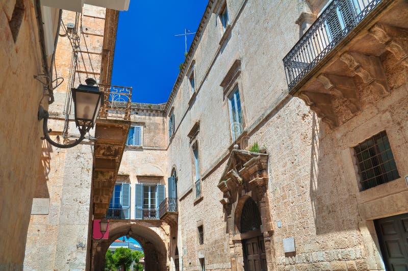 Alleyway. Altamura. Puglia. Italy. Perspective of an alleyway of Altamura. Puglia. Italy stock image