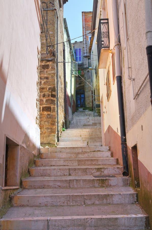 Alleyway. Biccari. Puglia. Włochy. fotografia stock