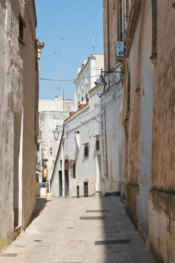 alleyway Castellaneta Puglia Italy imagem de stock