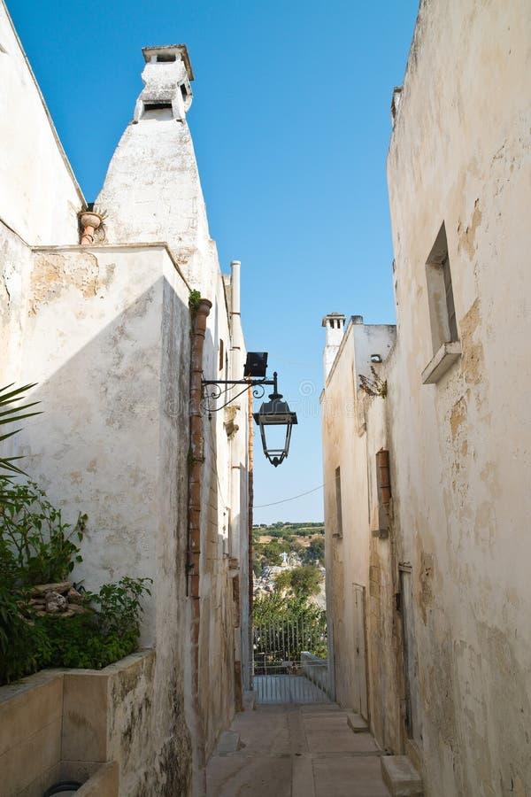 alleyway Castellaneta Puglia Italy fotografia de stock