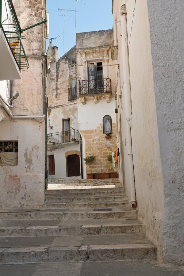 Alleyway. Castellaneta. Puglia. Italy. Characteristic alleyway of Castellaneta. Puglia. Southern Italy royalty free stock photo