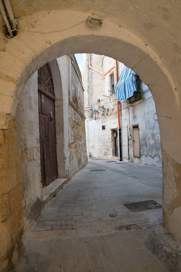 Alleyway. Castellaneta. Puglia. Italy. Characteristic alleyway of Castellaneta. Puglia. Southern Italy stock photo