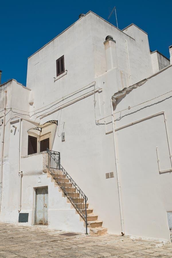 alleyway Ceglie Messapica Puglia Italy fotografia de stock royalty free