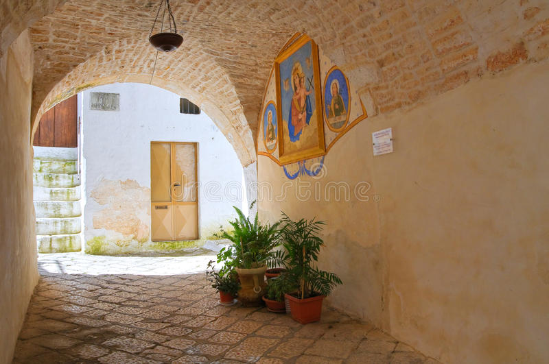Alleyway. Ceglie Messapica. Puglia. Italy. royalty free stock photography