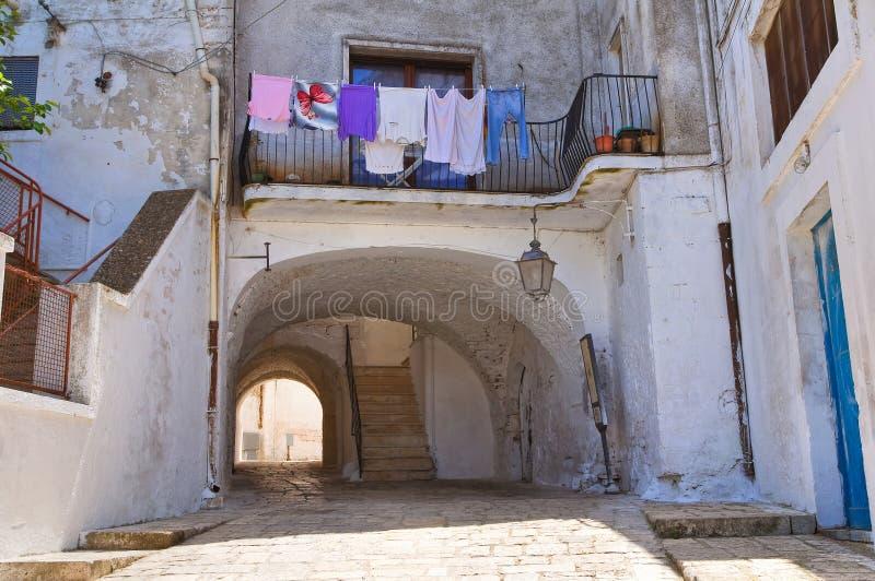 Alleyway. Ceglie Messapica. Puglia. Italy. stock images