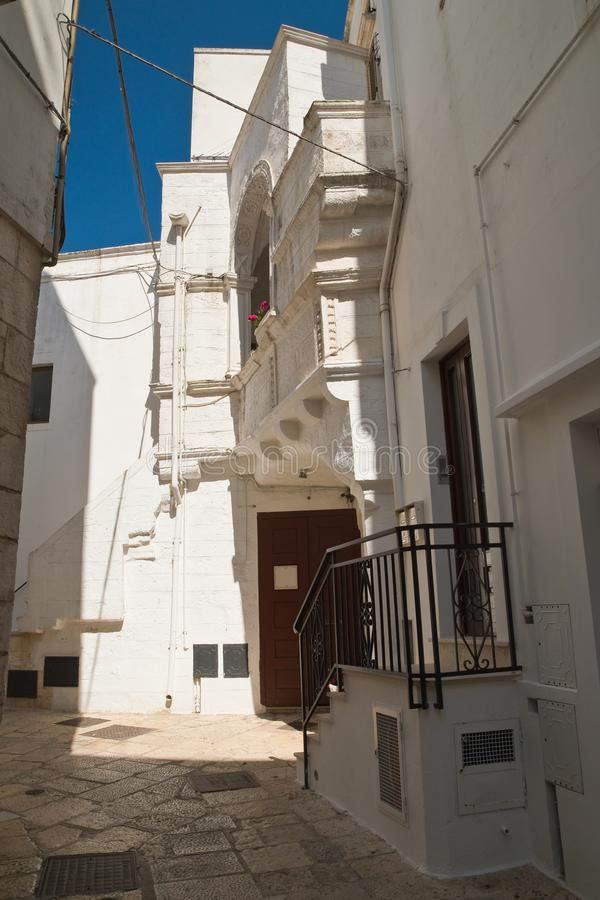 Alleyway. Cisternino. Puglia. Italy. stock photography