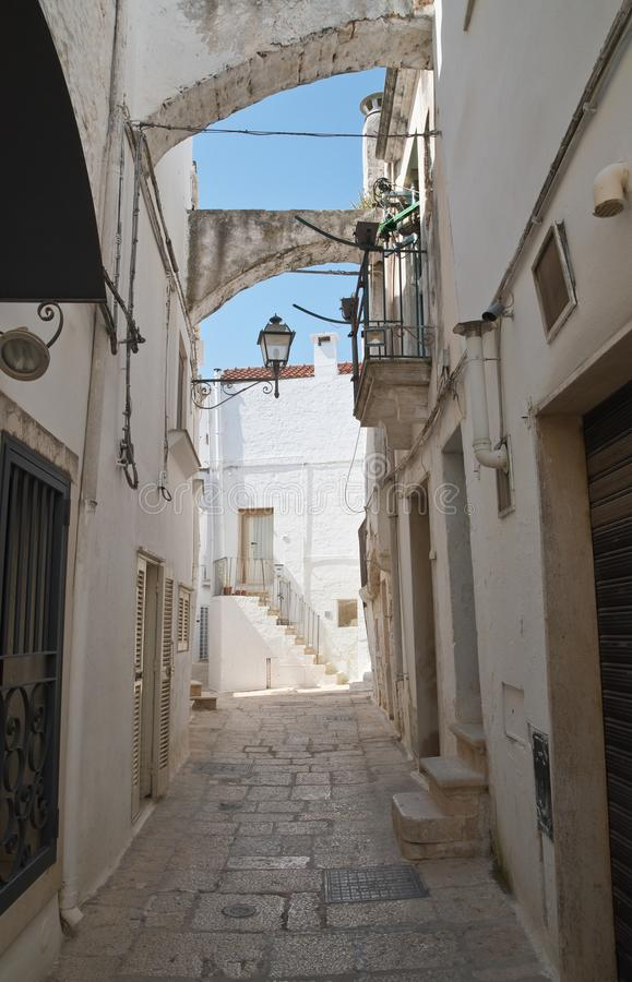 Alleyway. Cisternino. Puglia. Italy. stock images