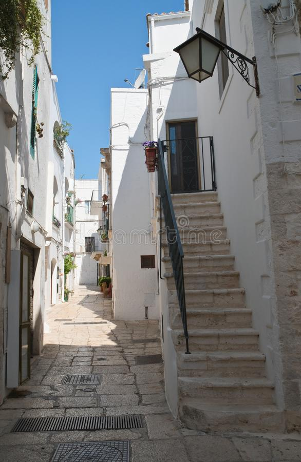 Alleyway. Cisternino. Puglia. Italy. royalty free stock photography